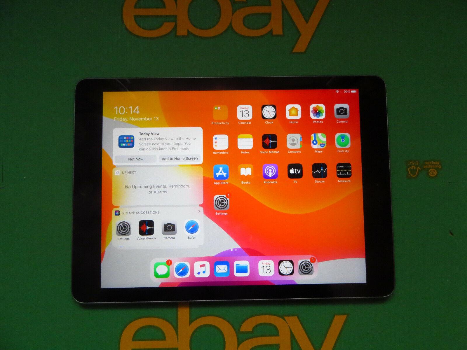 iPad:  Apple iPad (Fifth Generation) 2017 32GB 9.7″ A1822 Space Grey (237) * Read *