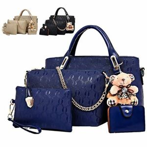 5Pcs-Set-Women-Lady-Leather-Handbags-Messenger-Shoulder-Bags-Tote-Satchel-Purse