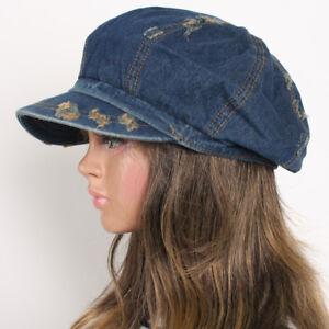55e8dafa3 Details about Blue Vintage Jean 8 Panels Denim Applejack Hat Newsboy Unisex  Gatsby Driving Cap
