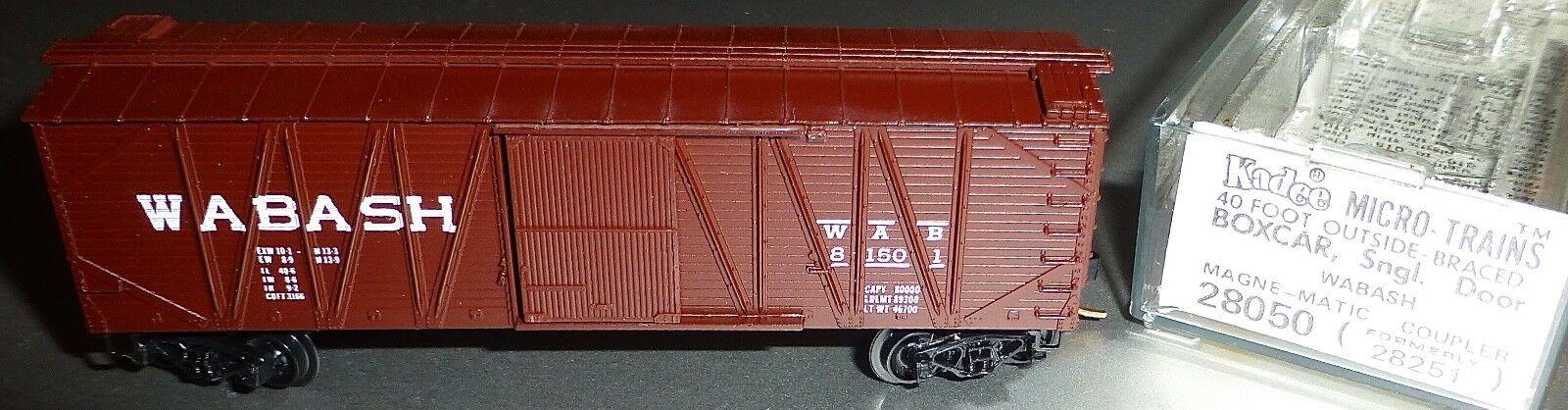 40´ Outside Braced Boxcar WABASH 81501 Micro Trains Line 28050 n 1 160 c å