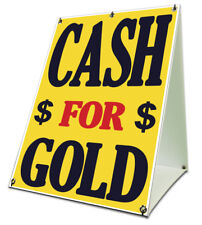 Cash For Gold Sidewalk A Frame 18x24 Outdoor Pawn Retail Sign