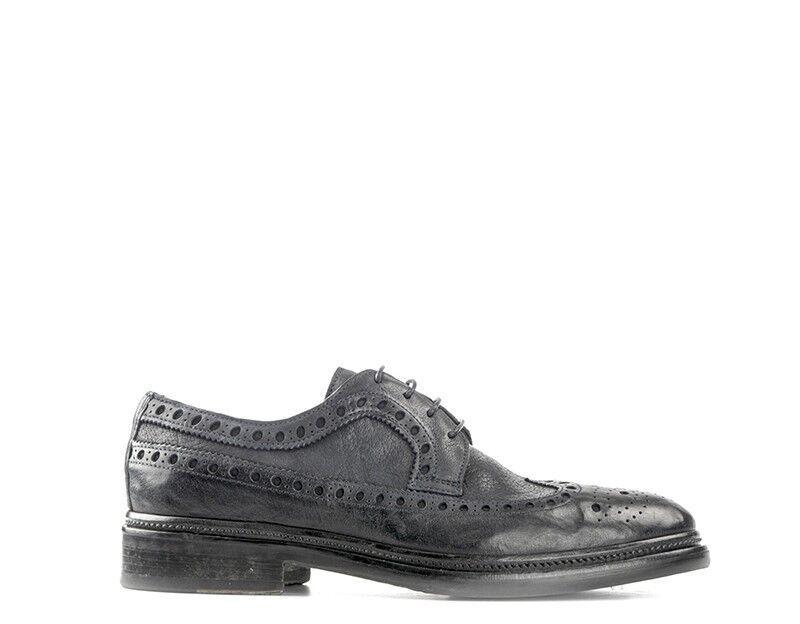 Zapatos CORVARI Hombre con Cordones de cuero natural 5106-016BL Azul formales,
