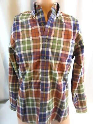 Viyella Mens Long Sleeve Plaid Button Down Shirt Clothing Men