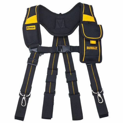 DEWALT DWST80915-8 Pro Work Tool Belt Suspender Mobile Pouch Adjustable_Ac