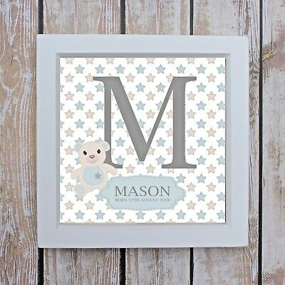 Personalised Teddy Print For New Baby