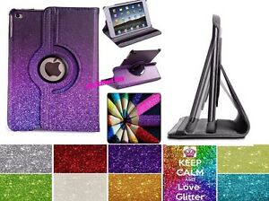 Leather-360-Degree-Rotating-Smart-Stand-Glitter-Case-Cover-For-APPLE-iPad-Models