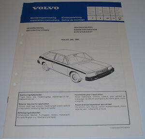 Einbauanleitung-Volvo-340-Dekorstreifen-Dekorstripes-Decorative-Strips-1980