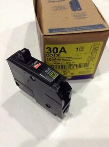 square d qo130 new plug in circuit breaker 30a 1 pole 120. Black Bedroom Furniture Sets. Home Design Ideas