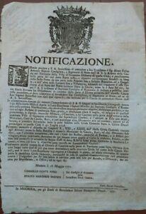 1771-73-BANDO-SUL-DIVIETO-DI-CACCIA-NELLA-RISERVA-DI-GANACETO-NEL-MODENESE