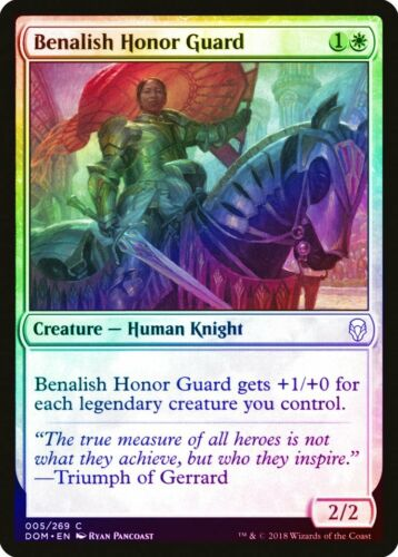 Benalish Honor Guard FOIL Dominaria NM-M White Common MAGIC MTG CARD ABUGames