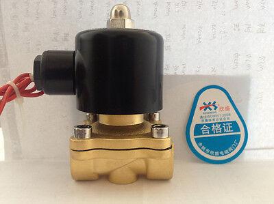 """Electric Solenoid Valve Water Air N/C DC 12V 3/4"""""""