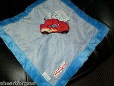 SECURITY BLANKET DISNEY JR JUNCTION PIXAR CAR  MCQUEEN BLUE BOY LIGHTNING NWT