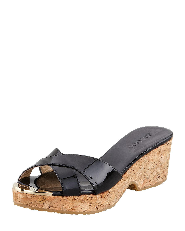 Jimmy Choo  Wedge Platform Sandal Size 38.5 8.5 NIB