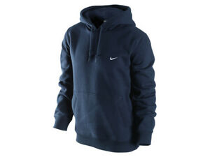 82c8c6f2e Image is loading Nike-Navy-Classic-Fleece-Pull-over-Hoodie-Sweatshirt-