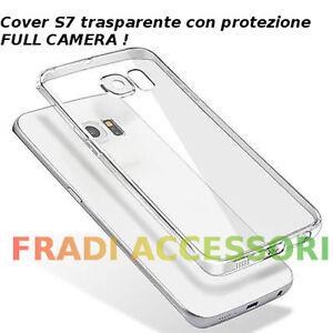 Cover custodia Samsung Galaxy S7 edgeTPU ultra slim silicone trasparente camera
