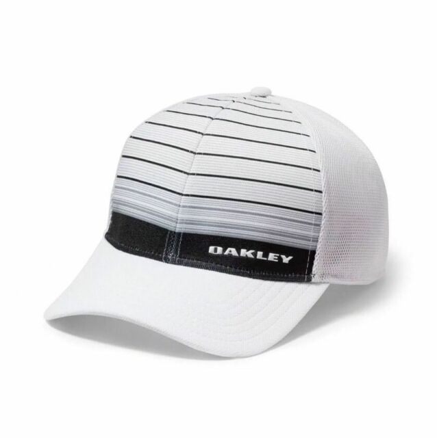newest 672d1 9d88b ... tinfoil cap white small medium 3f72d 1a270  top quality oakley silicon  bark trucker hat cap 2 sizes s m white grey with tags 17517
