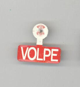 31b59602c2e Details about JOHN VOLPE Massachusetts Governor POLITICAL Tab PIN Badge  BOSTON MASS MA