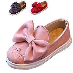 Moncassin-Enfant-Fille-Chaussures-de-Princesse-a-Enfiler-N-ud-Papillon-Respirant