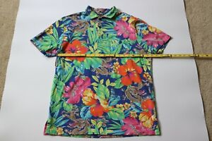 Polo Ralph Lauren Men's Featherweight Mesh Flower Dragon Polo Shirt Size Large