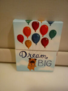 """""""Dream Big"""" Pug dog carried by balloons Mini Note Memo Pad w/magnetic closure"""