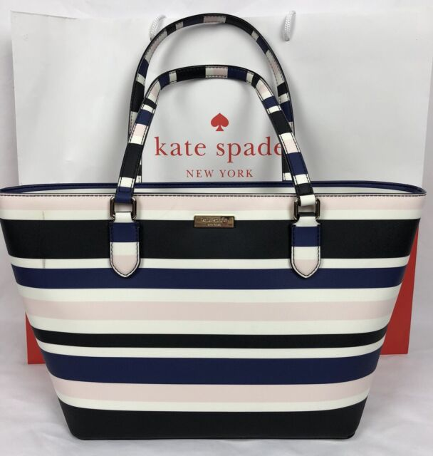 Kate Spade Laurel Way Printed Small Dally Cruise Stripe Wkru4515 Tote Bag 3dc7e66d07
