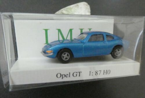 Opel GT azul ❌ IMU h0 1:87 OVP #karton