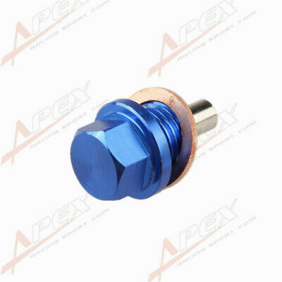 M14 X 1.5 OIL PAN DRAIN PLUG BOLT ENGINE MAGNETIC KIT WITH CRUSH WASHER 10P Blue