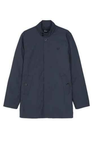 Small BNWT Fred Perry S Navy Blue 60s Mod Harrington Mac Jacket RRP £249