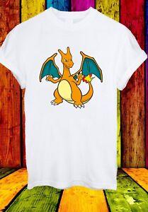Charizard-Charmeleon-Charmander-Lizardon-Pokemon-Men-Women-Unisex-T-shirt-2724