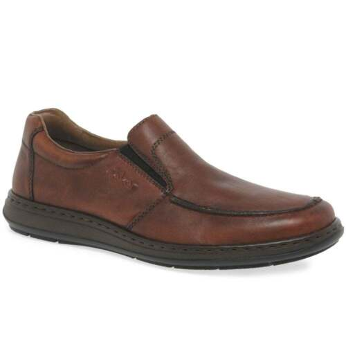 Rieker Fulham Mens Casual Rich Tan Leather Slip On Shoes