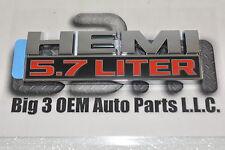 2013-2015 Dodge Ram 1500 Fender 5.7L Hemi Emblem Nameplate new OEM 68149700AB