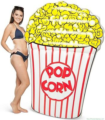 BigMouth Inc - Popcorn Movie Style  Inflatable Swimming Pool Float Raft - 5 FEET