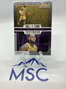 Lebron-James-2018-19-Panini-Contenders-Hall-Of-Fame-Contenders-Insert-Lakers