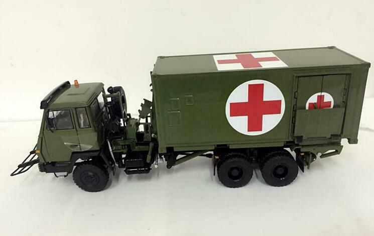 1 43 Steyr military vehicle logistics support Medical shelter car model