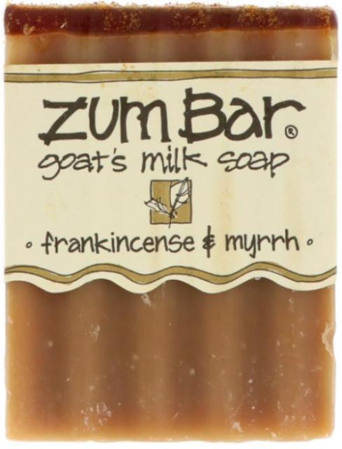 NEW INDIGO WILD ZUM BAR GOAT'S MILK SOAP FRANKINCENSE and MYRRH BATH and SHOWER