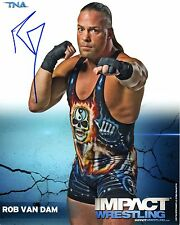 TNA SIGNED PHOTO ROB VAN DAM RVD RARE WWE WRESTLING PROMO & COA