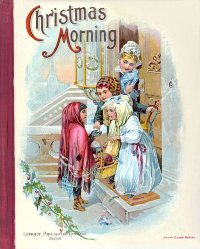 """Vintage /""""Christmas Morning 1897/"""" Victorian Nursery Prints A3 A4 Sizes"""