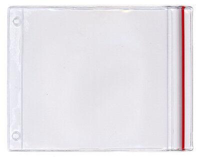 StoreSMART Clear Vinyl Plastic R1284ZIPS-10 10-Pack 8 1//2 x 11 Zip-Top Pockets