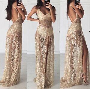 Glitter maxi dress ebay