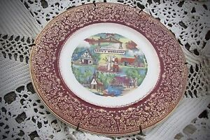Extremely unique/rare vintage dish - Images of Santa and Christmas gold overlay