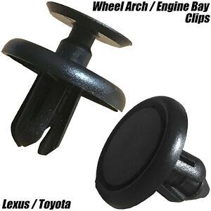 10x-Clips-pour-Lexus-amp-Toyota-Passage-De-Roue-amp-Moteur-Bay-Bouclier-montage-Fastener