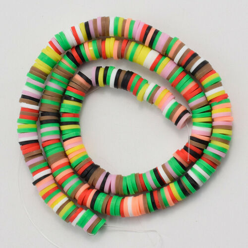 Crafting Accessories Disc Heishi Polymer Clay Spacer Beads Handmade Loose DIY