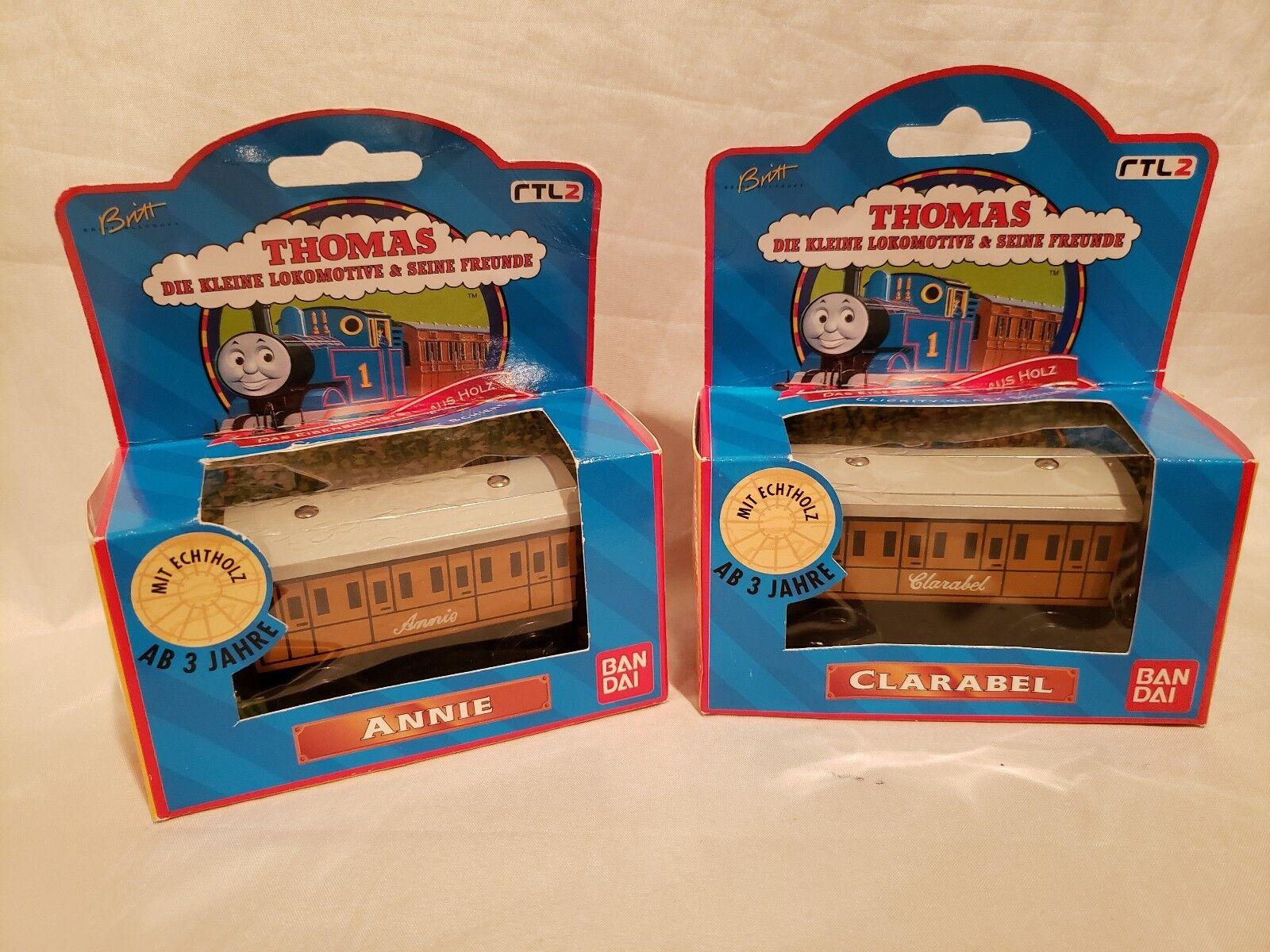 Thomas wooden Railway Rare New In Box German Version Ban dai Annie and Clarabel