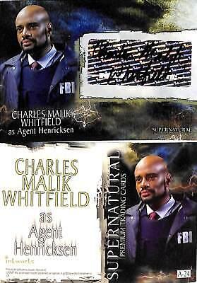 SUPERNATURAL SEASON 3 Inkworks 2008 Autograph Card #A24 CHARLES WHITFIELD