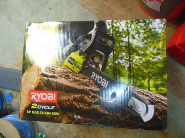Ryobi ry3714 chainsaw ebay new ryobi gas fuel powered chainsaw 14 inch bar 2 cycle chain saw keyboard keysfo Choice Image