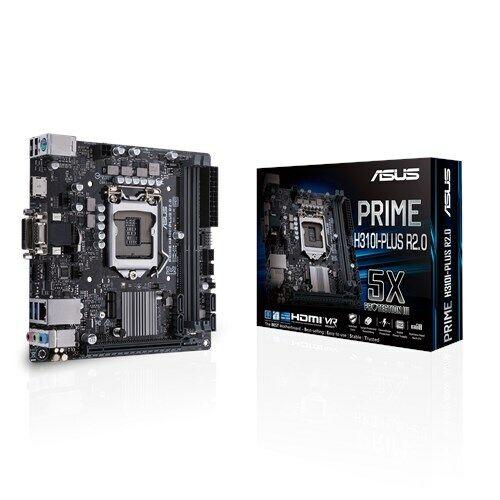 ASUS PRIME H310I-PLUS R2.0 Intel LGA-1151 Mini-ITX Motherboard. DDR4 2666MHz,...