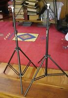 Pair Of Vu-pro Vp803 Professional Photography Adjustable Stands W/ Cases