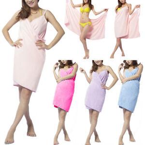Women-Bathrobe-Bath-Towel-Soft-Wearable-Quick-Dry-Dressing-Gown-Skirt-OK