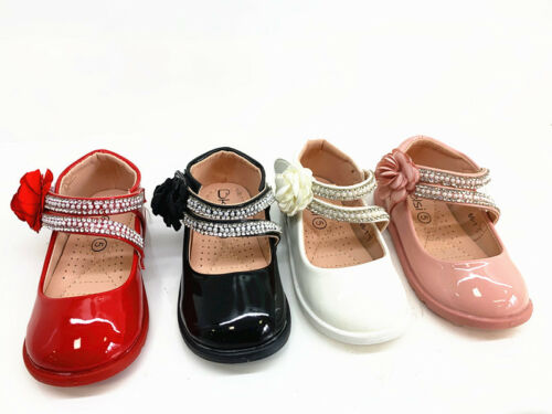 New Kids Infant Baby Girls Wedding Bridesmade Party Flower Shoes Toddler Shoes