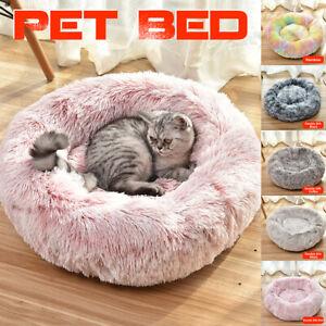 Pet-Dog-Cat-Calming-Bed-Round-Nest-Warm-Soft-Plush-Comfortable-Deep-Sleeping-Mat